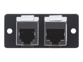 Kramer 2-Port RJ-45 Modular Facility Plate Snap-In, 85-3002099, 35666566, Premise Wiring Equipment
