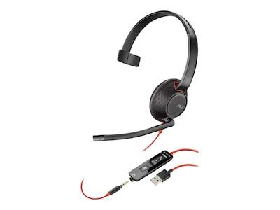 Plantronics BlackWire 5210 C5210 USB-A WW Headphones - Black (Bulk), 207577-03, 36583666, Headsets (w/ microphone)