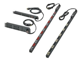 Panduit Basic Local Meter 1U Rack PDU 120V 20A, L5-20P Input, (10) 5-20R Outlets, H1M1B1D0A10AKA0, 35137082, Power Distribution Units