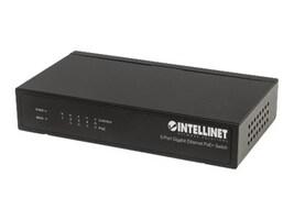 Manhattan Intellinet Desktop Switch 4xGbE PoE+ 1xGbE External power adapter, 561228, 35278424, Network Switches