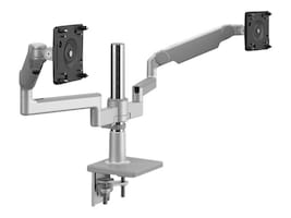 Humanscale MFlex M2.1 with Dual Monitor Support, Clamp Mount, Silver, X2BCMSETBETB12-IND, 36693187, Stands & Mounts - Desktop Monitors