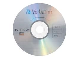 Verbatim 4x 4.7GB DVD+RW Branded Media (30-pack Spindle), 94834, 5205961, DVD Media