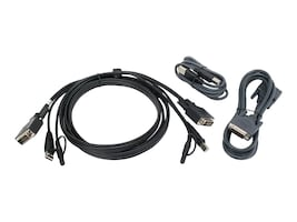 IOGEAR Dual DVI USB KVM Cable Kit, 6ft, G2L7202UTAA3, 35647074, Cables