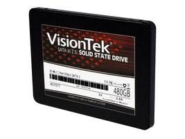 VisionTek 480GB SATA 3D MLC 2.5 7mm Internal Solid State Drive, 900980, 34040908, Solid State Drives - Internal