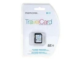 Memorex 8GB SDHC TravelCard Flash Memory Card, Class 10, 99032, 29153692, Memory - Flash