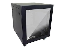 Gizmac XRACKPRO2 Studio Noise Reduction Enclosure, Black, XRP2-ST-12U-US-BLK, 12344468, Racks & Cabinets