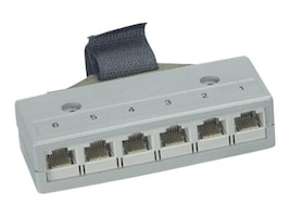 Black Box (6) RJ-45 8-Wire to Telco 50 F M Drop Split Adapter, FM052-R2, 32994599, Adapters & Port Converters