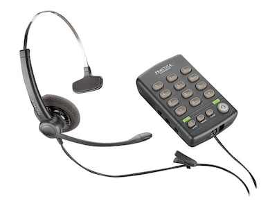 Plantronics T110H Standard Phone - Corded - 1 x Phone Line BASE FOR USE WITH PLT INHIN, 204556-01, 32385072, Telephones - Business Class