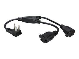 QVS Outlet Saver AC Power Splitter Adapter 12 90-degree Flat Plug (6-pack), PPRT-ADPT2-6PK, 31207670, Power Cords