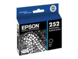 Epson Black 252 Standard-Capacity Ink Cartridge, T252120, 17228010, Ink Cartridges & Ink Refill Kits