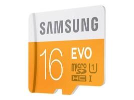 Samsung 16GB EVO Micro SDHC Flash Memory Card with USB 2.0 Reader, MB-MP16DC/AM, 30895888, Memory - Flash