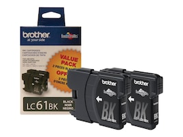 Brother Black LC61 Ink Cartridges for MFC-6490CW (2-pack), LC612PKS, 8688882, Ink Cartridges & Ink Refill Kits - OEM