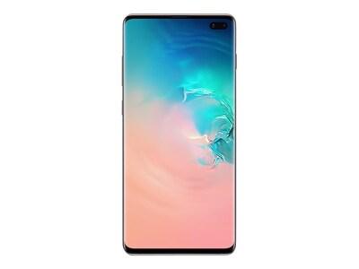 Samsung Galaxy S10+ Smartphone, 512GB, Ceramic White (Unlocked), SM-G975UCWEXAA, 36960644, Cell Phones