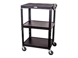 Luxor Adjustable Height Steel A V Cart - Three Shelves, AVJ42, 34594118, Computer Carts