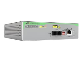 Allied Telesis 1000T POE+ TO 1000SX SC TAA Media Converter, AT-PC2000/SC-90, 34136951, Network Transceivers