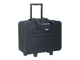 SOLO Rolling Laptop Case, Poly, 16 x 6.5 x 15, Black, B1004, 14993269, Carrying Cases - Notebook