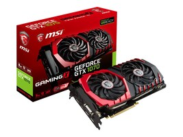 Microstar GTX 1070 GAMING X 8G Main Image from Left-angle