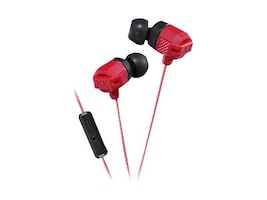 JVC XX Smrtphone Xtreme Bass IE Heapdhones - Red, HAFR202R, 34171377, Headsets (w/ microphone)