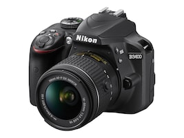 Nikon D3400 DSLR Camera with 18-55mm Lens (Black), 1571, 34241865, Cameras - Digital