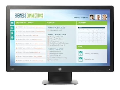 HP 21.5 ProDisplay P223 Full HD LED-LCD Monitor, Black, X7R61A8#ABA, 33598328, Monitors