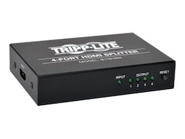 Tripp Lite 4-Port HDMI Splitter for Video and Audio 1920x1200   1080p, B118-004, 16900409, Video Extenders & Splitters