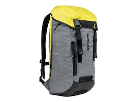 Incipio Incase Halo Courier Backpack for 17 Laptop, Heather Gray Black Yellow, CL55580, 32635852, Carrying Cases - Notebook