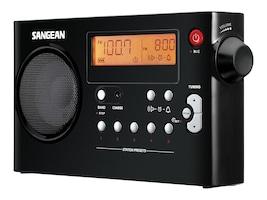 Sangean AM FM Rechargeable Receiver, PR-D7BK, 13407061, Stereo Components