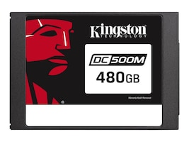 Kingston 480GB DataCenter DC500M SATA 6Gb s Mixed-Use 2.5 Internal Solid State Drive, SEDC500M/480G, 36810363, Solid State Drives - Internal