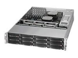 Supermicro SuperChassis 826BE16 2U RM (2x)Intel AMD 12x3.5 HS Bays 7xPCI 920W RPS, CSE-826BE16-R920LPB, 15213674, Cases - Systems/Servers
