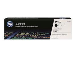 HP 128A (CE320AD) Black Original LaserJet Toner Cartridges (2-Pack), CE320AD, 13655014, Toner and Imaging Components - OEM