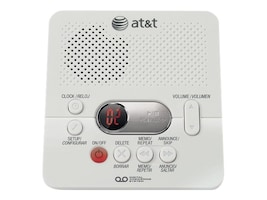 AT&T AT&T Digital Answering System with Time Day Stamp (White), 1740, 15197926, Phone Accessories