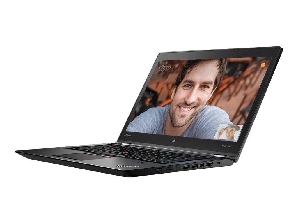Lenovo TopSeller ThinkPad Yoga 460 Core i5-6200U 2.3GHz 4GB 192GB SSD ac BT FR WC Pen 14 FHD MT W10P64, 20EM001PUS, 31151451, Notebooks - Convertible