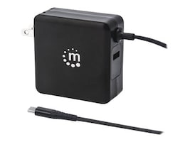 Manhattan 60W PD Wall Charger, 180238, 36894430, Battery Chargers