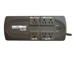 Minuteman EnSpire Standby UPS 600VA 300W, USB Port, (6) 5-15R Outlets, EN600, 7361773, Battery Backup/UPS