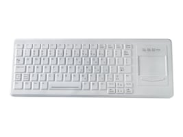 TG3 CK82S 82-Key, Right-side Touchpad, Cleanable Sealed Keyboard, USB, Green Backlighting, White, KBA-CK82S-WRUG-US, 31448967, Keyboards & Keypads