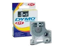 DYMO 1 2(12mm) x 23' White on Black D1 Tape, 45021, 189656, Paper, Labels & Other Print Media