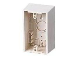 Leviton Single Gang Surface Mount Backbox, 42777-1WA, 6405199, Phone Accessories