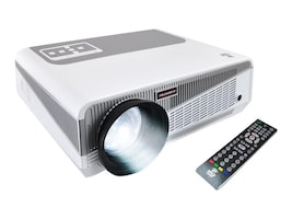Pyle Hi-Res Smart HD Projector w Android CPU and WiFi, 3000 Lumens, White Gray, PRJAND615, 33249275, Projectors