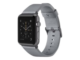 Belkin Classic Leather Band for Apple Watch, 38mm, Gray, F8W731BTC02, 33418761, Wearable Technology