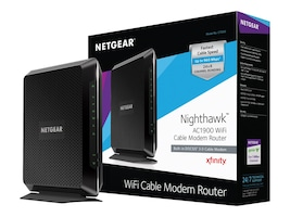 Netgear Nighthawk AC1900 Wi-Fi Cable Modem Router, C7000-100NAS, 23730250, Network Routers