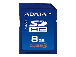 A-Data 8GB SDHC Card, ASDH8GCL4-R, 12712443, Memory - Flash