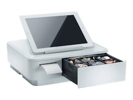 Star Micronics mPOP Mobile POS with Integrated Printer & Cash Drawer, Universal Tablet Stand, Int PS, 39650010, 33249945, POS Systems