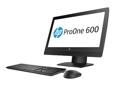 HP ProOne 600 G3 AIO Core i5-7500 3.4GHz 8GB 256GB SSD HD630 DVD-W ac BT DP Stand WC 21.5 FHD W10P64, 1NZ42UT#ABA, 34482087, Desktops - All-in-One