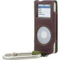 Belkin iPod nano Suede Carabiner Case - Brown Green, F8Z094-BG, 6859545, Carrying Cases - iPod