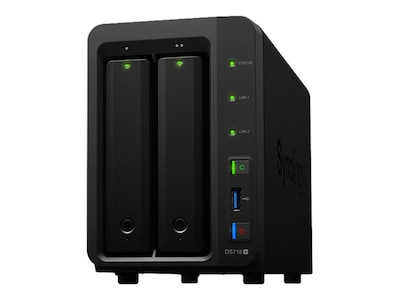 Synology 2-Bay NAS DiskStation DS718+ Storage - Diskless, DS718+, 34703329, Network Attached Storage