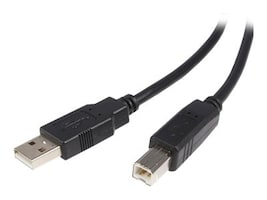 StarTech.com USB 2.0 Type A to Type B M M Cable, Black, 15ft, USB2HAB15, 319334, Cables