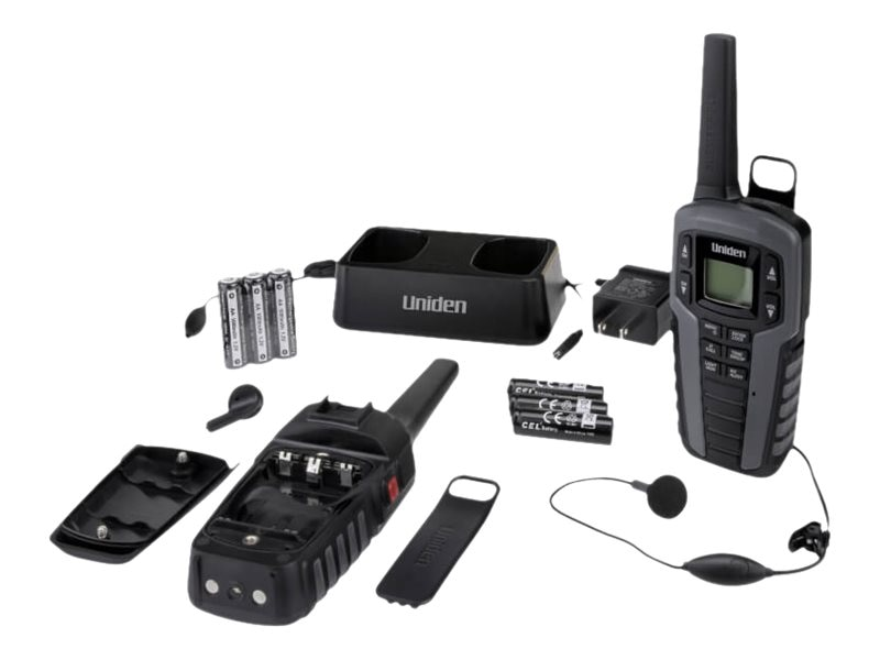 Uniden GMRS FRS RADIO 37-Mile Two Way Radio w 142 Privacy Codes, Weather  Alert & Charging Cradle