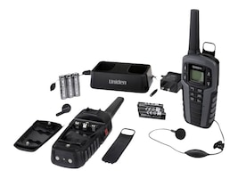 Uniden GMRS FRS RADIO 37-Mile Two Way Radio w  142 Privacy Codes, Weather Alert & Charging Cradle, SX377-2CKHS, 34077196, Two-Way Radios