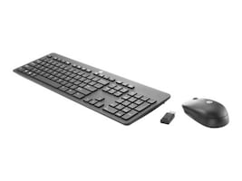 HP Slim Wireless Keyboard and Mouse, T6L04UT#ABA, 31465759, Keyboards & Keypads