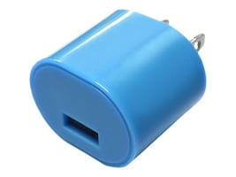 Mizco 1A USB Wall Charger, Blue, IEC-ACPUSB-BL, 30829910, Battery Chargers